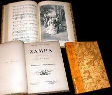 Zampa opéra de Hérold partition complète piano chant 1900
