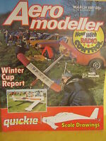 AEROMODELLER MARCH 1981 QUICKIE SCALE DRAWINGS CITABRIA FULL SIZE PLANS