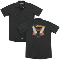 ZZ TOP ELIMINATOR COVER Licensed Adult Men's Dickies Graphic Work Shirt SM-3XL