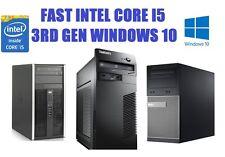 A Buon Mercato Veloce Windows 10 Intel Core i5 3rd Gen 4GB 500GB PC Desktop Tower