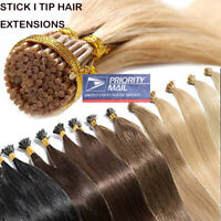 Stick I Tip Glue Pre-bonded Keratin 100% Remy Human Hair Extensions CLEARANCE LC