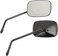 "Drag Specialties Black OEM Pair Front 8"" Handlebar Mirror Set Harley Davidson"