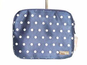 NWT Jimeale Handbag,I Pad Sleeve Navy /White Top Zip Entry