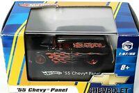 2008 Hot Wheels '55 Chevy Panel Hot Sauce Die Cast Car 1:87 HO Scale & Case NIB
