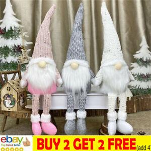 Christmas Faceless Gnome Gonks Doll Plush Ornaments Swedish Tomte Elf Xmas Decsa