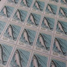 FEUILLE SHEET TIMBRE POISSON SAUMON N°2665 x25 1990 NEUF** LUXE MNH