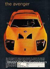 1970 Fiberfab Avenger Kit - Original Advertisement Print Art Car Ad J700