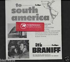 BRANIFF INTERNATIONAL 1952 TO SOUTH AMERICA RIO DE JANIERO BY DC-6 & DC-4 AD