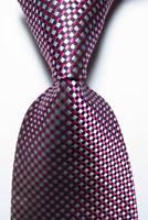 New Classic Checks Red White Black JACQUARD WOVEN 100% Silk Men's Tie Necktie