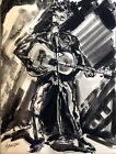 """Morris Yudelson – Original Ink Painting / """"The Sing Along with Bob Dylan"""" - 1975"""
