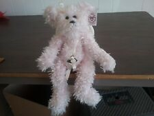 "Bearington Bears 'Charity' Shag Plush Pink 13"" jointed bear #1009 w/ Wings"