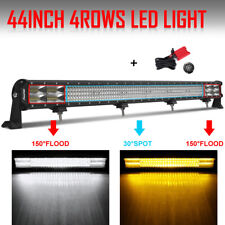 8Mode 44inch 5040W LED Light Bar Quad row Dual Color Combo Offroad SUV FORD 45""