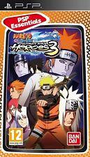 Naruto Shippude Ultimate Ninja Heroes 3 Essentials (PSP) NEW