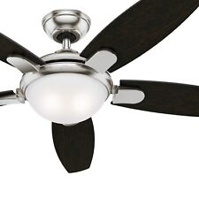 Hunter 54 in. Contemporary Ceiling Fan in Brushed Nickel with LED Light & Remote