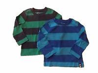 NWT Boy's Gymboree Hop n' Roll striped long sleeve shirt ~ 6 12 18 months 3T