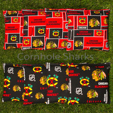 Cornhole Bean Bags Set of 8 ACA Regulation Bags Chicago Blackhawks  Free Ship!!