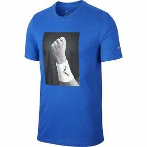 Nike Rafa Nadal Men's Graphic Tennis T-Shirt Top CJ0432-480 New Size M