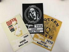 QUEEN (1975 1978 1980) 3 Tour Passes Hangtag Stickers by Worn Free Clothing