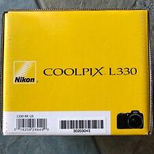 Nikon COOLPIX L330 20.2MP Digital Camera - Black. Used Good Condition