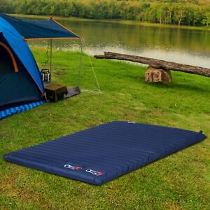 Inflatable Bed Double Mattress Camping Sleeping Outdoor Travel Blue