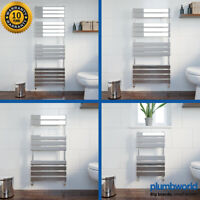 Modern Designer Flat Panel Heated Bathroom Towel Rail Radiator Heating Chrome