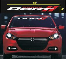 DODGE DART WINDSHIELD VINYL DECAL STICKER ((silver & red colors))