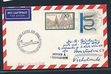 06714) KLM FF Amsterdam - Moskau 6.4.71, Karte ab Stuttgart BRD