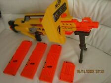 Nerf N-Strike Stampede ECS Sniper Gun 63 Darts 4 x Magazines, Shield & Tripod