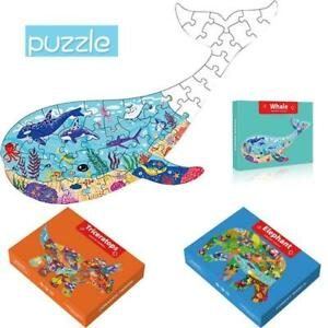 Unique Animal Shaped Jigsaw Puzzle for Kids - 6 Different Animals, 50-200 Pieces