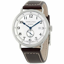 Hamilton Men's Navy Pioneer Leather Strap Silver Dial Mens Watch H78465553