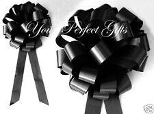"""10 BLACK WEDDING 9"""" PULL PEW BOWS BRIDAL SHOWER CHURCH"""
