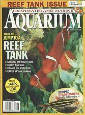 Freshwater and Marine Aquarium magazine Reef tank tips Striped headstanders