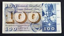 Switzerland 100 Swiss Franc Banknote 5th Series 1969 #65F62064