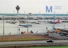 Munich Airport Apron Terminal and Tower Airplanes Panorama