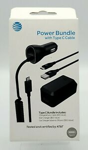 New Car & Home Charger /w 4ft Sync Cable Power Bundle by AT&T USB-C