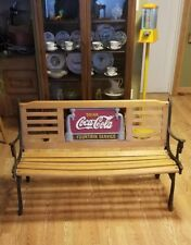 """Antique """"Coca Cola"""" Iron And Wood Bench! Vf"""