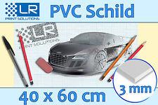 Werbeschild Schild aus PVC-Platte 3 mm, Ihr Projekt, 40x60 cm