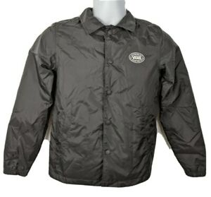Vans Snap Button Black Jacket Youth Size S