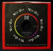 THE BEATLES-Please Please Me-Rare Radio Station 45-VEE JAY #VJ 581-Bracket Logo