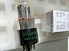 6SL7GT Sylvania Green Print Foil Getter New Old Stock Tube Valve 1PC O17A