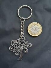 Tree of Life Large Key Chain Tibetan Silver Yoga Buddha Meditation Spirituality