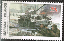Marshall Islands WW2 1943 Red Army Tanks Liberation of Kharkov stamp MNH