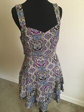Free People Womens Small Multi Color Layered Summer Dress Sz 4