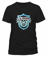 LA Guns Shield Logo Shirt S M L XL XXL T-Shirt Official Metal Rock Band Tshirt