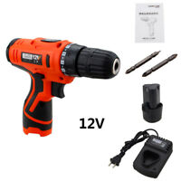 12V Cordless Hammer Drill Electric 1-Speed Driver Screwdriver 1x Li-Ion Battery