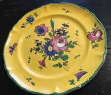 Antique Stunning Hand Painted French Faience Flowers Villeroy & Boch*