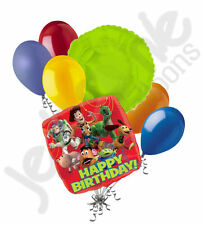 7 pc Toy Story Gang Happy Birthday Balloon Bouquet Party Decoration Disney Red