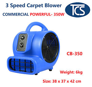 TCS NEW 3 SPEED 350W INDUSTRIAL CARPET BLOWER/ DRYER/ AIR CIRCULATOR