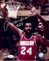 Moses Malone Signed Autographed 8X10 Photo Rockets vs. Parish JSA