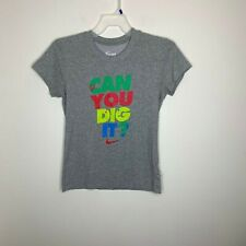 Nike Womens M Grey Can You Dig It Volleyball Short Sleeve Shirt